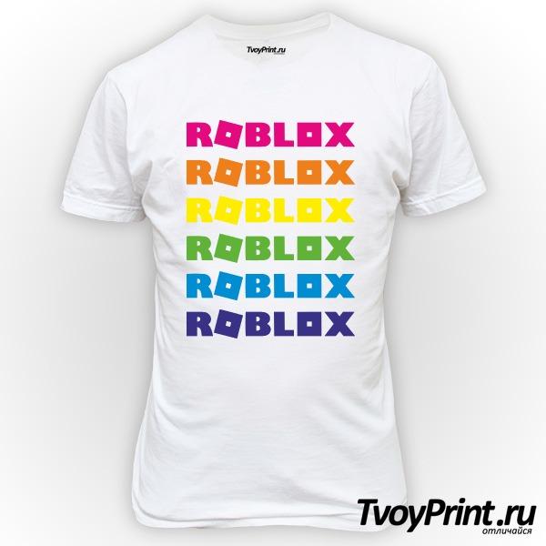 Футболка roblox радуга