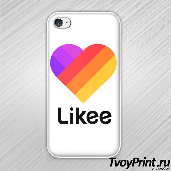 Чехол iPhone 4S Likee (логотип маленький)