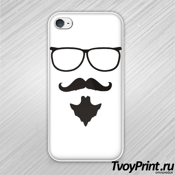 Чехол iPhone 4S Хипстер Гай Фокс