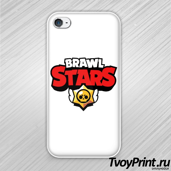 Чехол iPhone 4S brawl stars logo