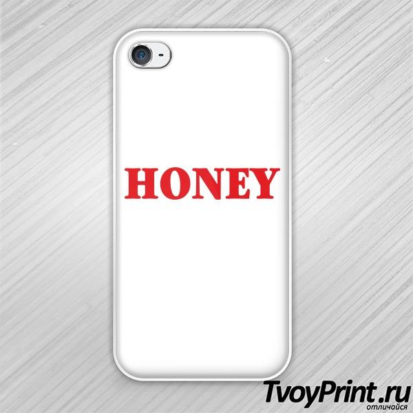 Чехол iPhone 4S honey
