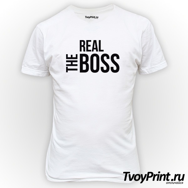 Футболка The real boss
