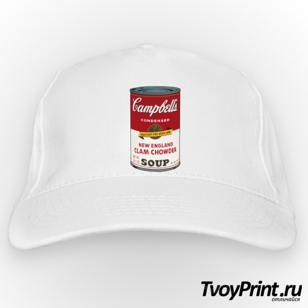 Бейсболка Andy Warhol campbell soup