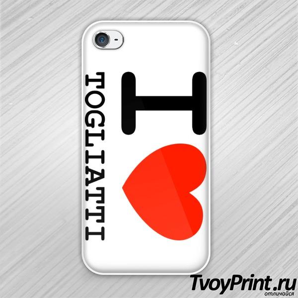Чехол iPhone 4S Я люблю Тольятти