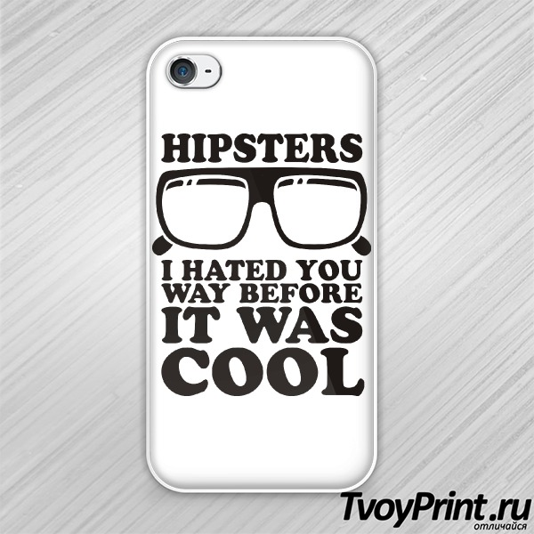 Чехол iPhone 4S Hipsters I hated you