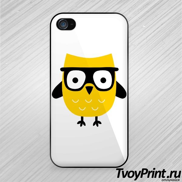 Чехол iPhone 4S Хипстер Сова