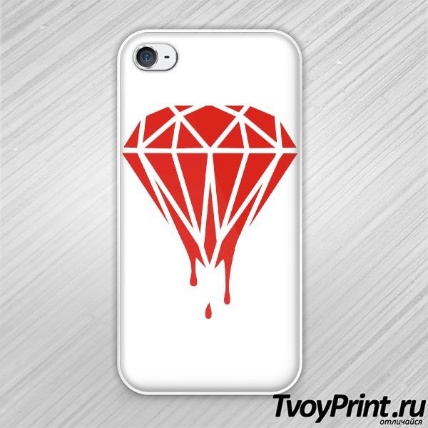 Чехол iPhone 4S Плавящийся бриллиант