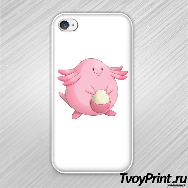 Чехол iPhone 4S Ченси (Chansey)  покемон