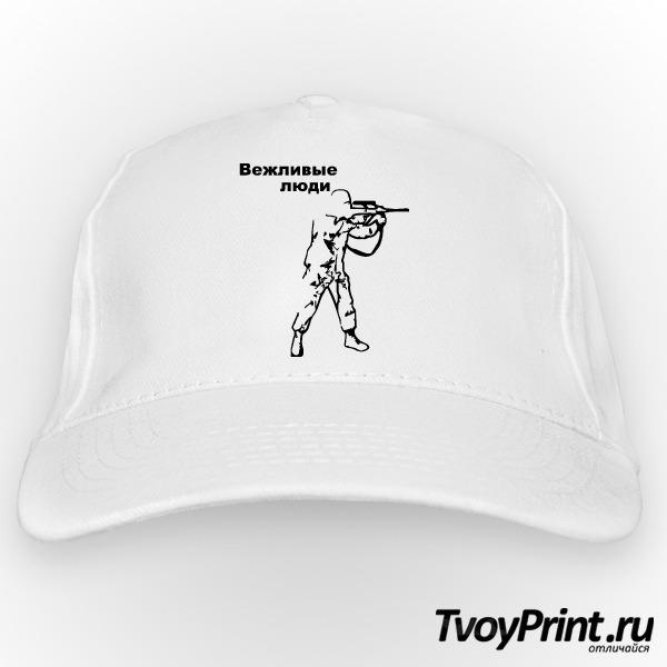 Бейсболка Вежливые люди (стреляющий солдат)