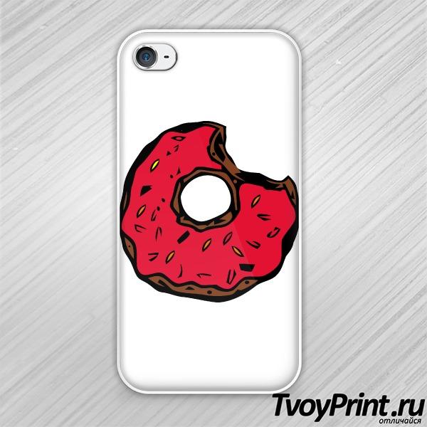 Чехол iPhone 4S Пончик для Гомера