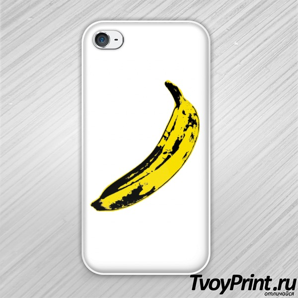 Чехол iPhone 4S Andy Warhol Banana