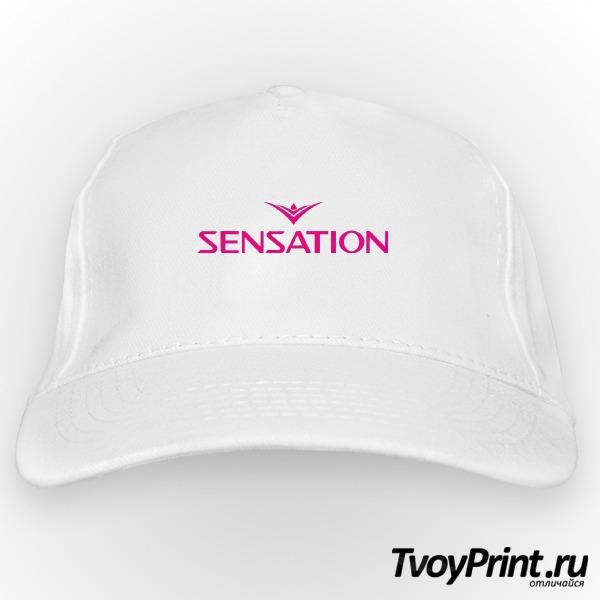 Бейсболка Sensation розовый знак
