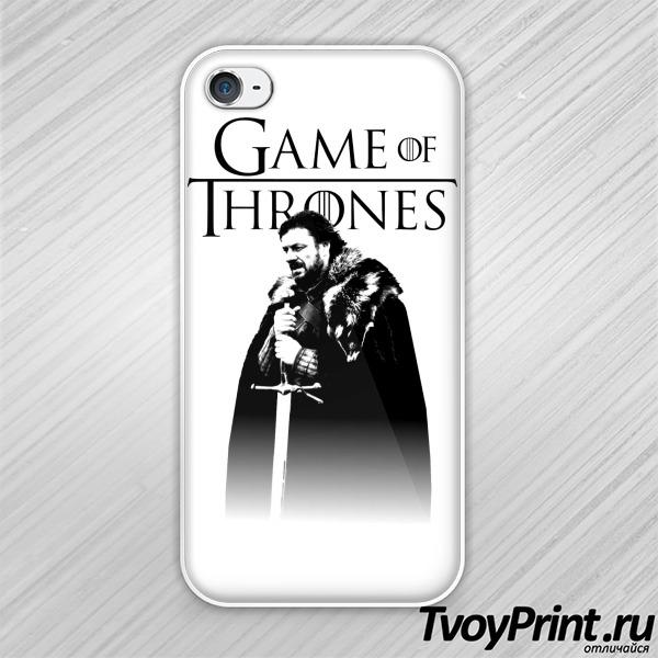 Чехол iPhone 4S Игра престолов (Эддард Старк)