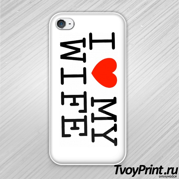 Чехол iPhone 4S I love my wife