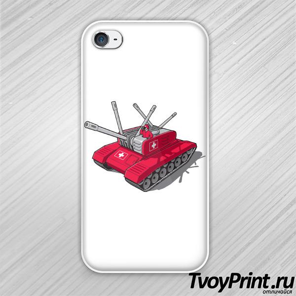 Чехол iPhone 4S Швейцарский танк