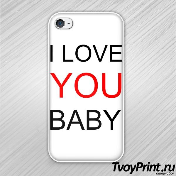 Чехол iPhone 4S I love you