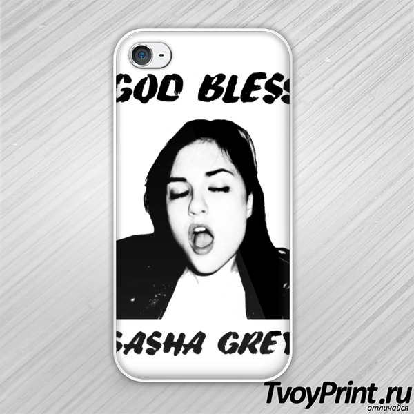 Чехол iPhone 4S Sasha Grey (Саша Грей)