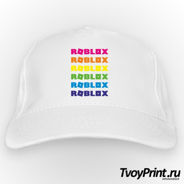 Бейсболка roblox радуга