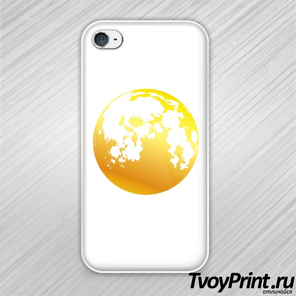 Чехол iPhone 4S Gold moon