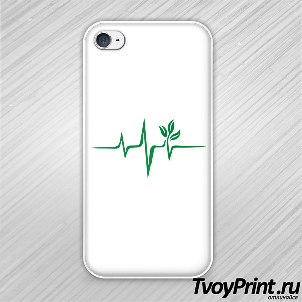 Чехол iPhone 4S Pulse Green
