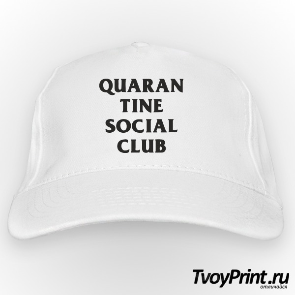 Бейсболка QUARAN TINE SOCIAL CLUB