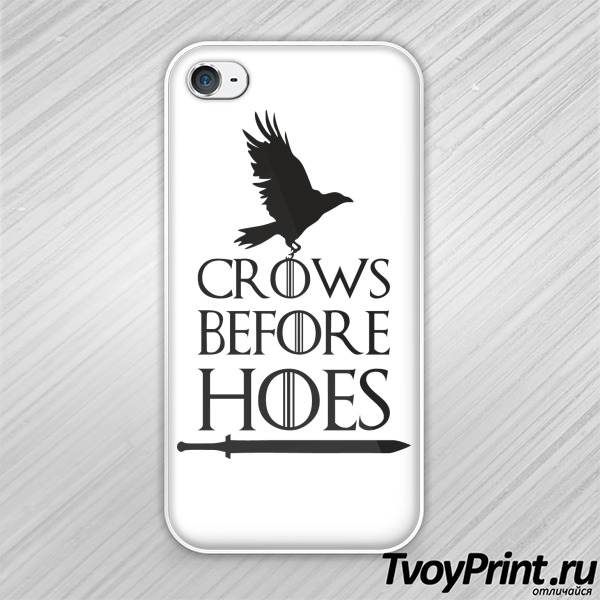 Чехол iPhone 4S Got Crows Before Hoes
