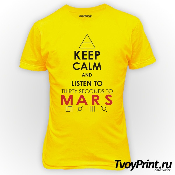 Футболка 30 seconds to mars Keep Calm and Listen