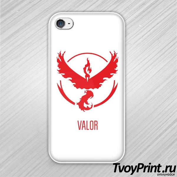 Чехол iPhone 4S Red Team Valor Pokemon Go Красная команда