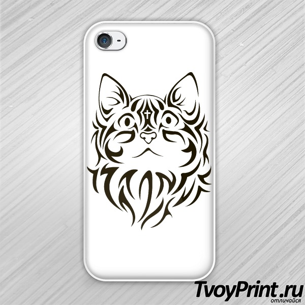 Чехол iPhone 4S The cat