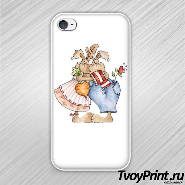Чехол iPhone 4S Кролики