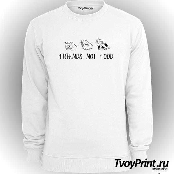 Свитшот FRIENDS NOT FOOD