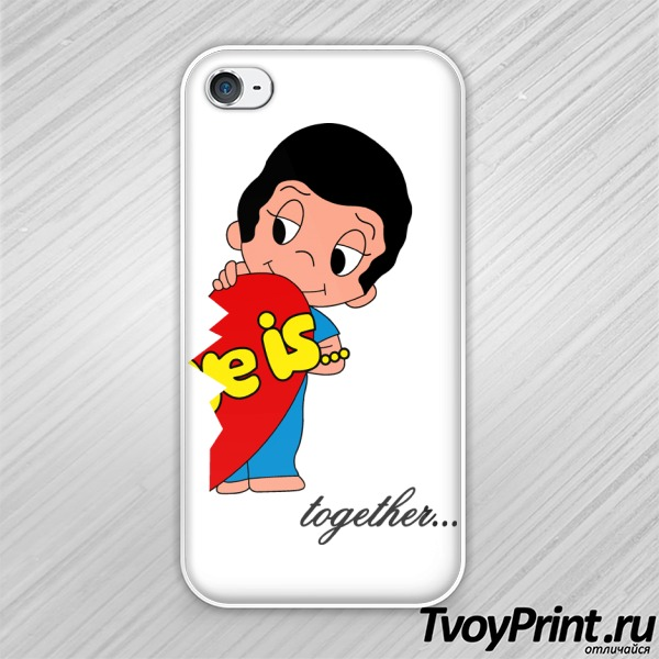 Чехол iPhone 4S love is (boy)