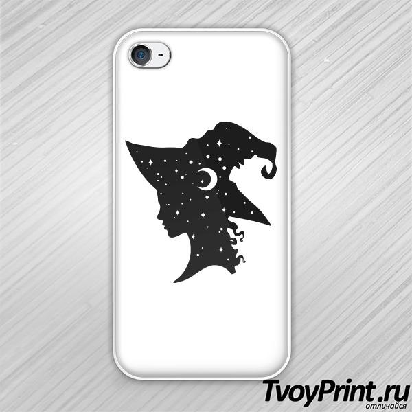 Чехол iPhone 4S Профиль ведьмы