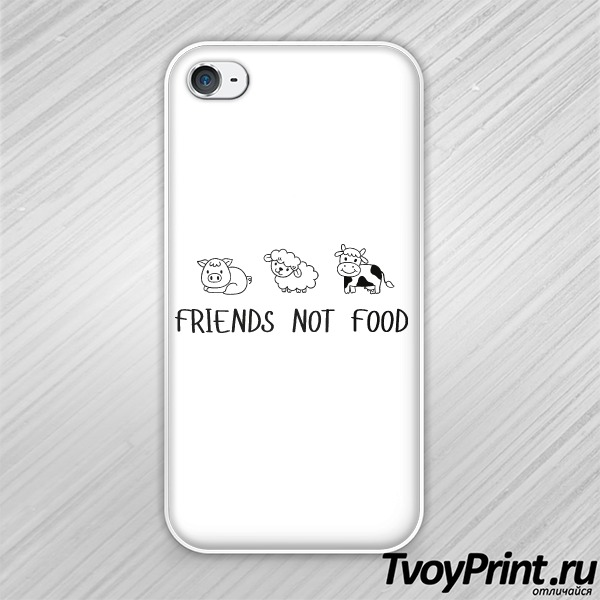 Чехол iPhone 4S FRIENDS NOT FOOD