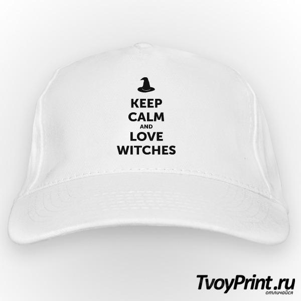 Бейсболка Keep calm and love witches