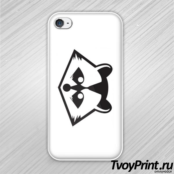 Чехол iPhone 4S Добрый енот