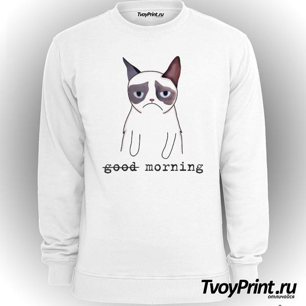 Свитшот Грустный кот Недоброе утро