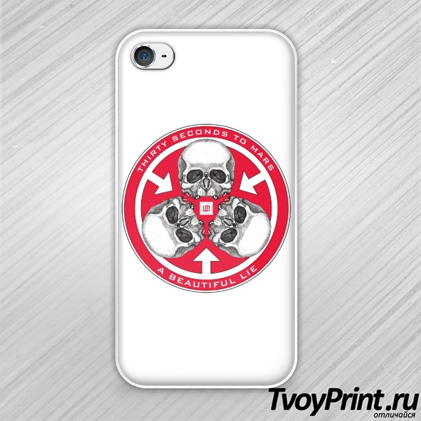 Чехол iPhone 4S 30 seconds to mars Trinity Seal
