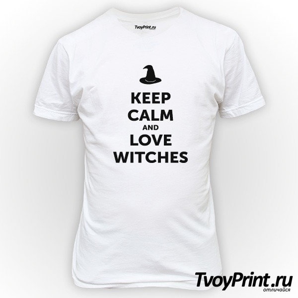 Футболка Keep calm and love witches