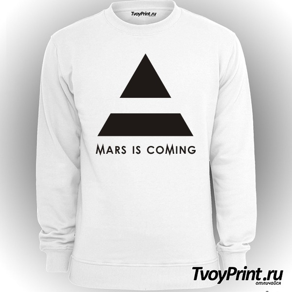 Свитшот 30 seconds to mars is coming