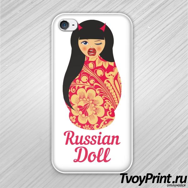 Чехол iPhone 4S Матрешка Чертенок Челка