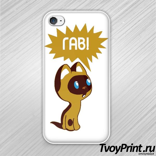 Чехол iPhone 4S Котенок Гав