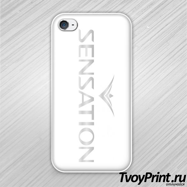 Чехол iPhone 4S Sensation серебро