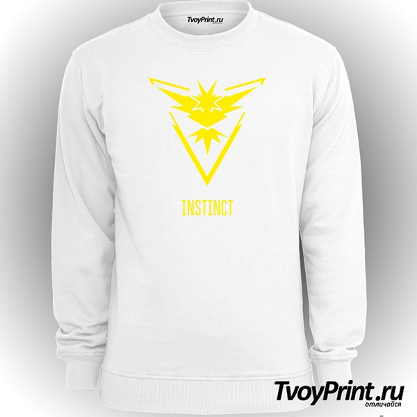 Свитшот Yellow Team Instinct Pokemon Go Желтая команда