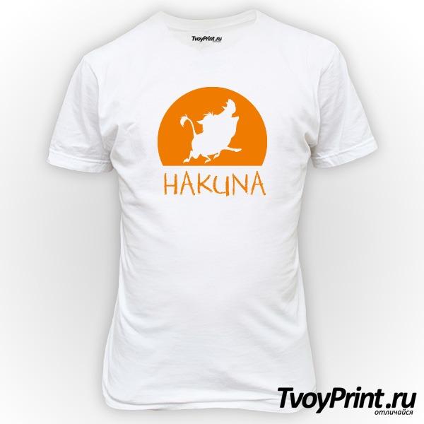 Футболка  Hakuna Matata (пумба)