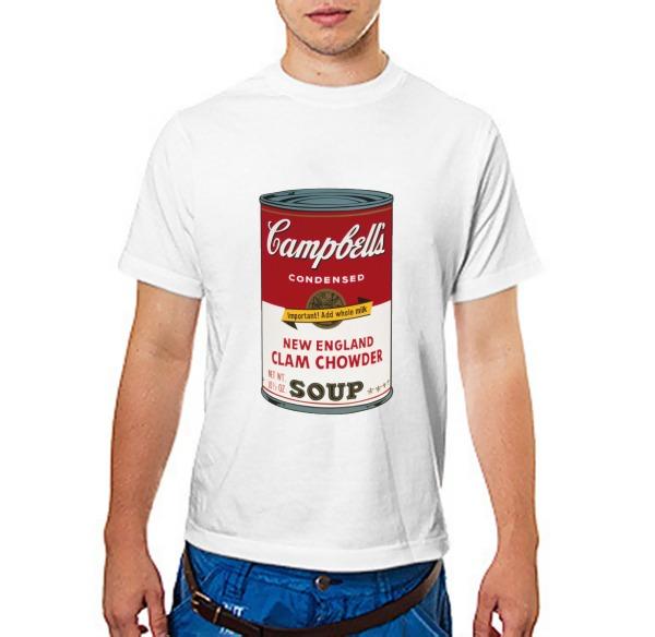 Футболка Andy Warhol campbell soup