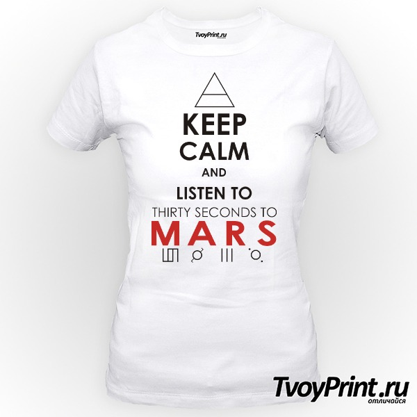 Футболка 30 seconds to mars Keep Calm and Listen
