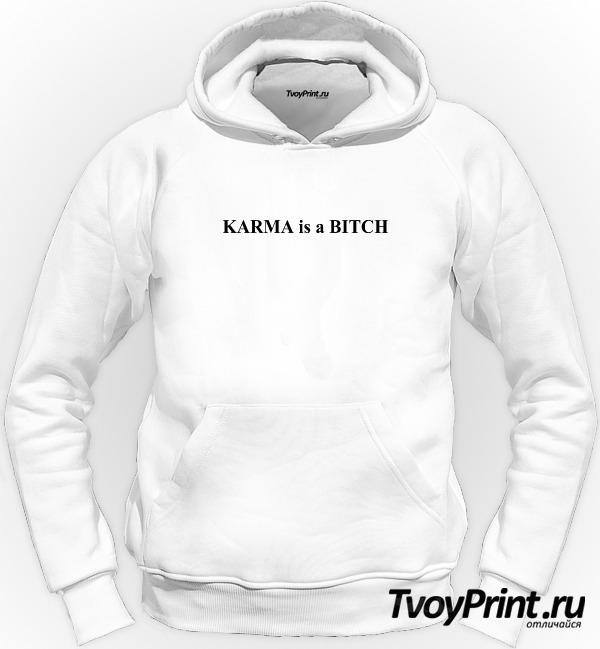 Толстовка Karma is a bitch