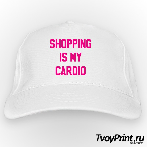Бейсболка shopping is my cardio
