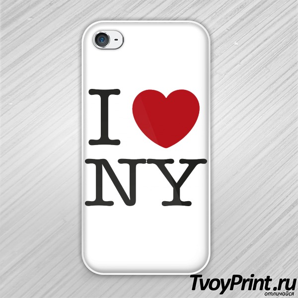 Чехол iPhone 4S I love New York